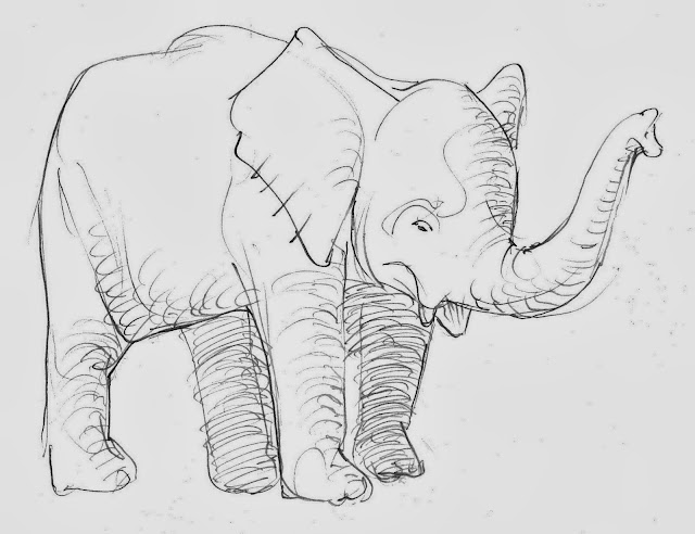 Elephant Coloring Cartoon Drawing Free wallpaper