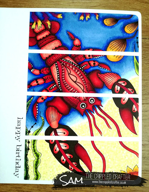 Lobster Birthday Card by Sam Lewis AKA The Crippled Crafter, featuring Colorista and Spectrum Noir