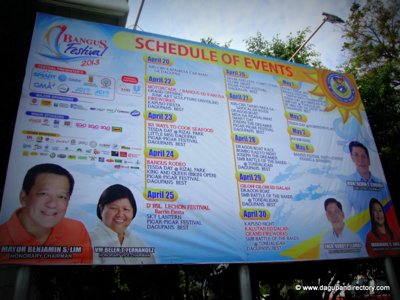 Dagupan City Bangus Festival 2013 Schedule of Events