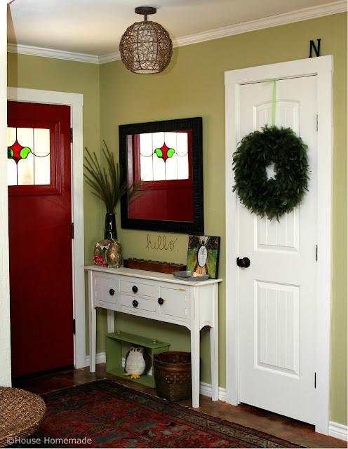 green entryway
