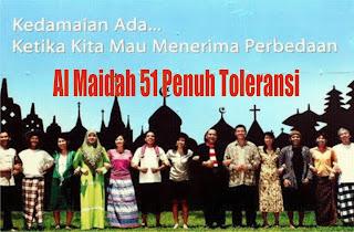 Dituduh ayat Rasis, Ternyata Al maidah 51 ayat Toleransi foto:andainah.blogspot.com