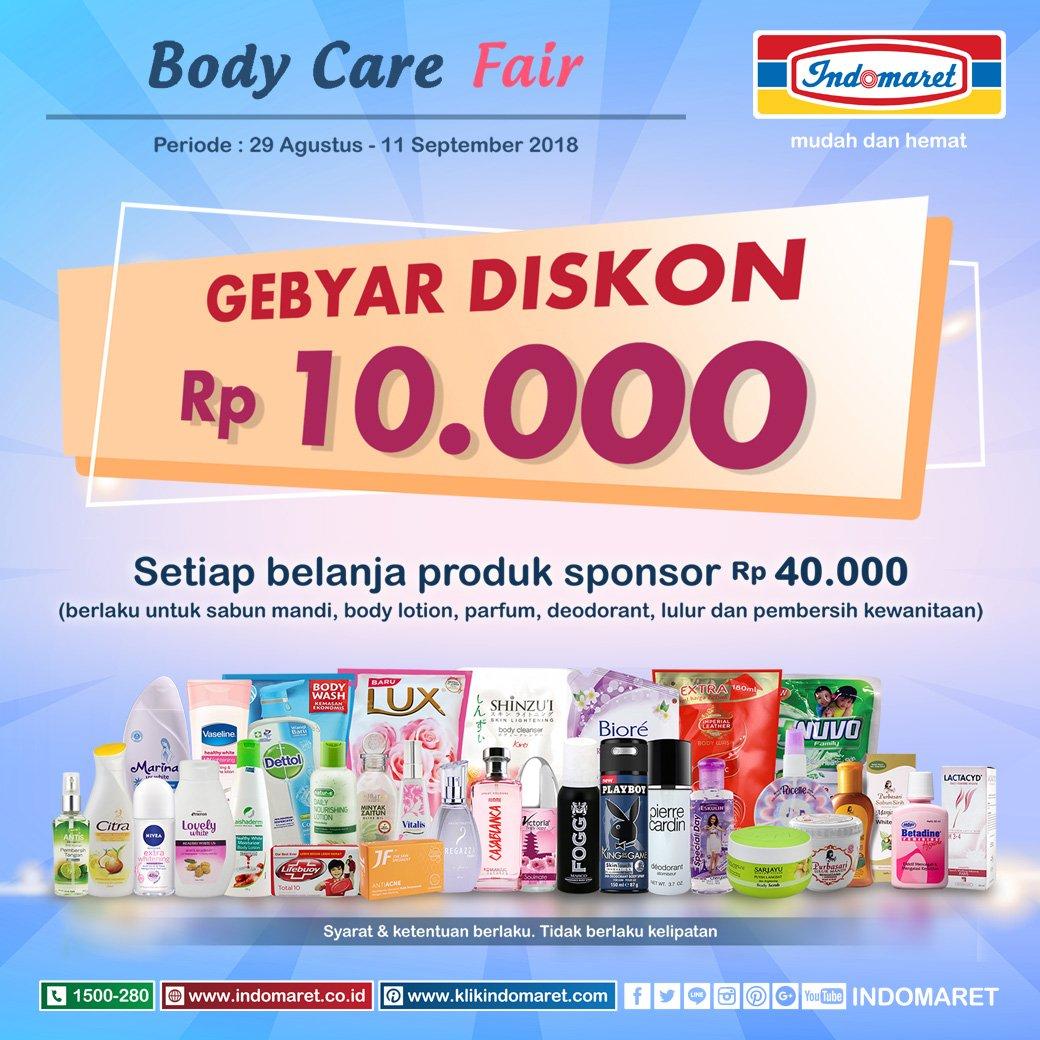 Indomaret - Promo Gebyar Diskon 10 Ribu Produk Body Care (s.d 11 Sept 2018)