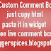 How To Custom Comment Box Blogger