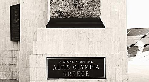 los angeles memorial coliseum olympia stone greece