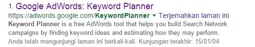 Riset Kata Kunci Dengan Google
