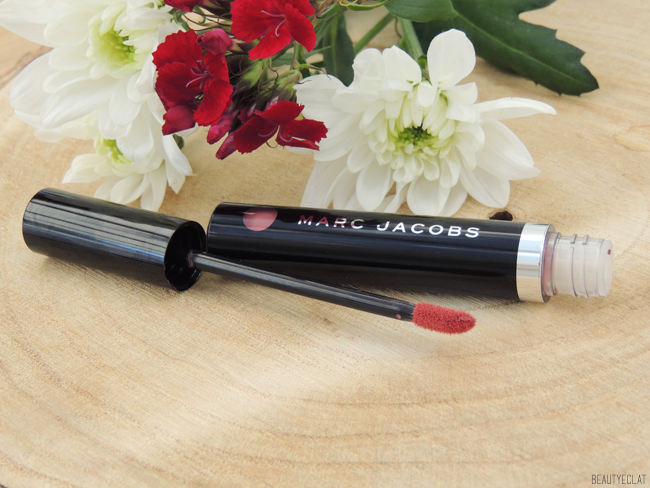 marc jacobs le marc liquid lip creme rouge a levres liquide truth or bare swatch revue review