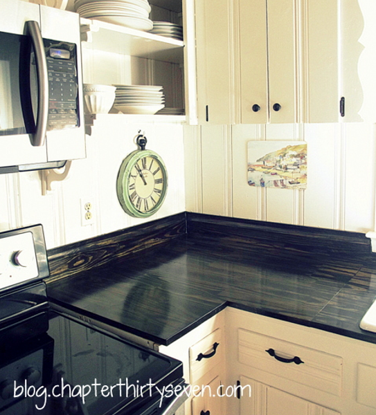 diy home sweet home 9 amazing diy kitchen countertop ideas diy reclaimed wood countertop averie lane diy reclaimed