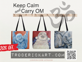 20% of Tote bags by Boulder artist Tom Roderick