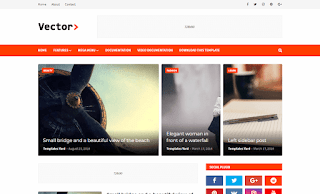 Vector Blogging Blogger Template