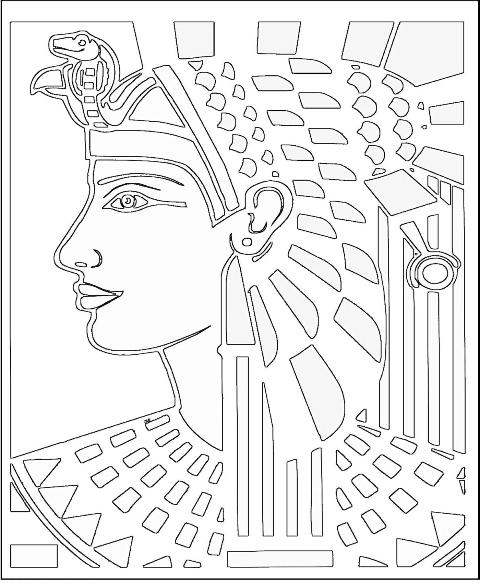 Ancient Egyptian Coloring Pages 061611» Vector Clip Art