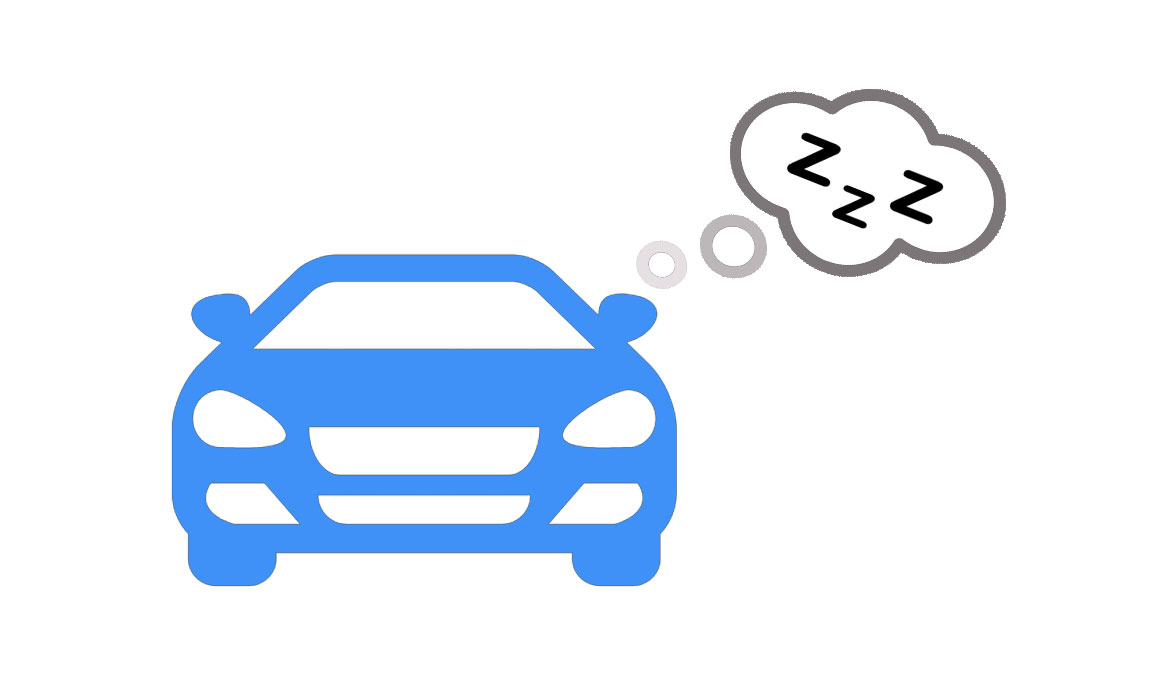 นอนในรถ