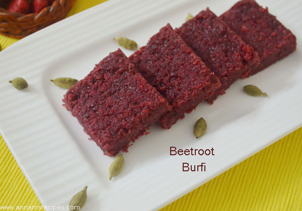 Beetroot Burfi