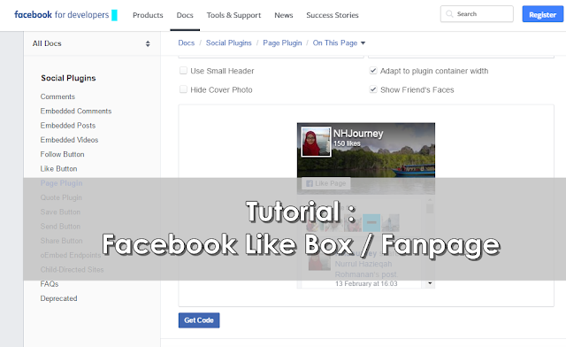 Tutorial : Facebook Like Box / Fanpage
