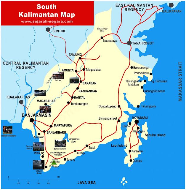 image: Map of South Kalimantan