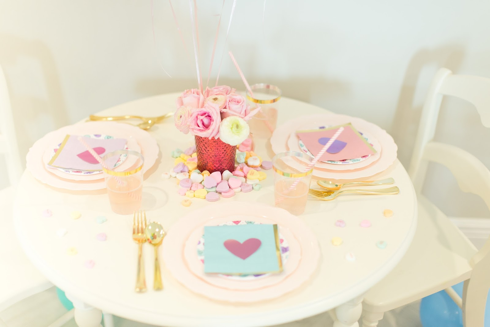 Kid's Candy Heart Valentines Day Party by popular party blogger Celebration Stylist