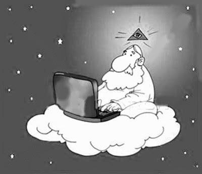 Dios usando su computadora