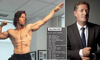 'If Mark Wahlberg's insane daily regime is what superstar fame actually costs, I'd rather go down the pub' PIERS MORGAN
