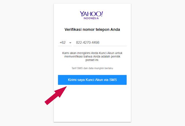verifikasi nomor telephone