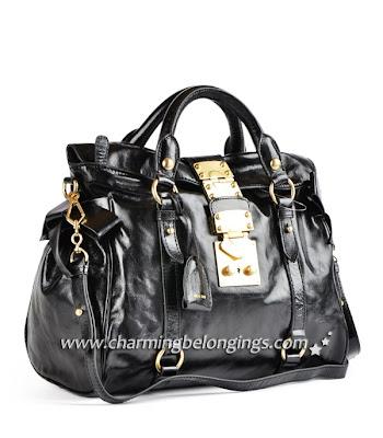 5114264113b LOUIS VUITTON HANDBAG PURSE BLOG  Miu Miu Shiny Calf Top Handle Bag ...