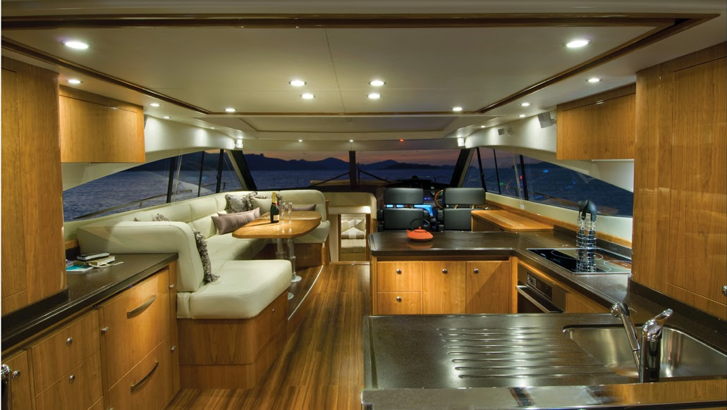 Small Yacht Of Interior Elegant And Beautiful For The