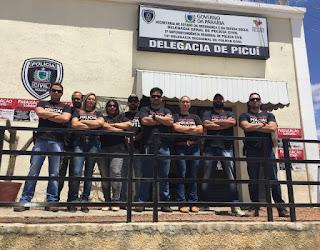 Em Picuí Policiais Civis acompanham paralisação das atividades da classe em todo o Estado