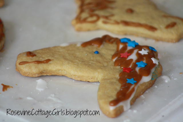 Cowboy Cookies, Cowboy Cookie Recipe, Cowgirl Cookies, 4th of July Cookies, Western Theme Cookies, Western Theme Cutout Cookies, by Rosevine Cottage Girls
