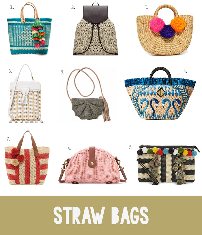 Summer fashion trend, jute, rattan, raffia, straw, bags, purses, totes, clutches, shopping guide, Spring