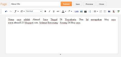 Membuat halaman statis pada Blog