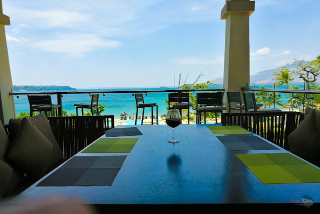 Dining area overlooking the Acea Subic Bay