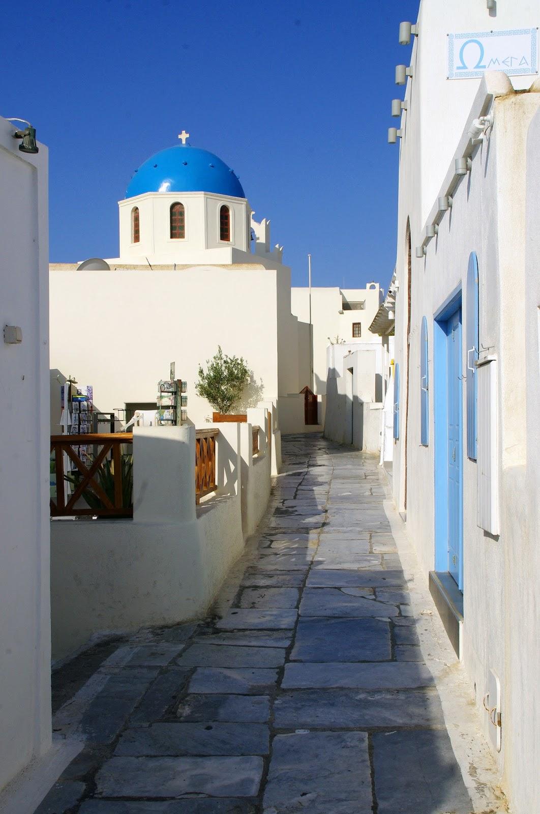 Streets of Oia Santorini