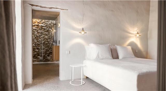 dormitorio con paredes a la cal chicanddeco