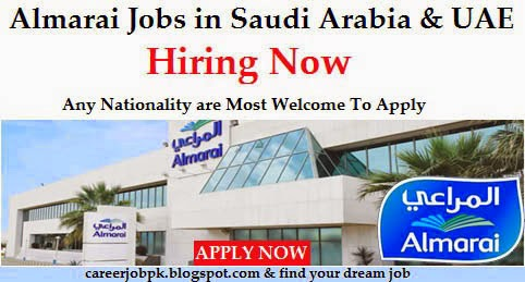 Almarai Company Any Nationality Staff Required for KSA