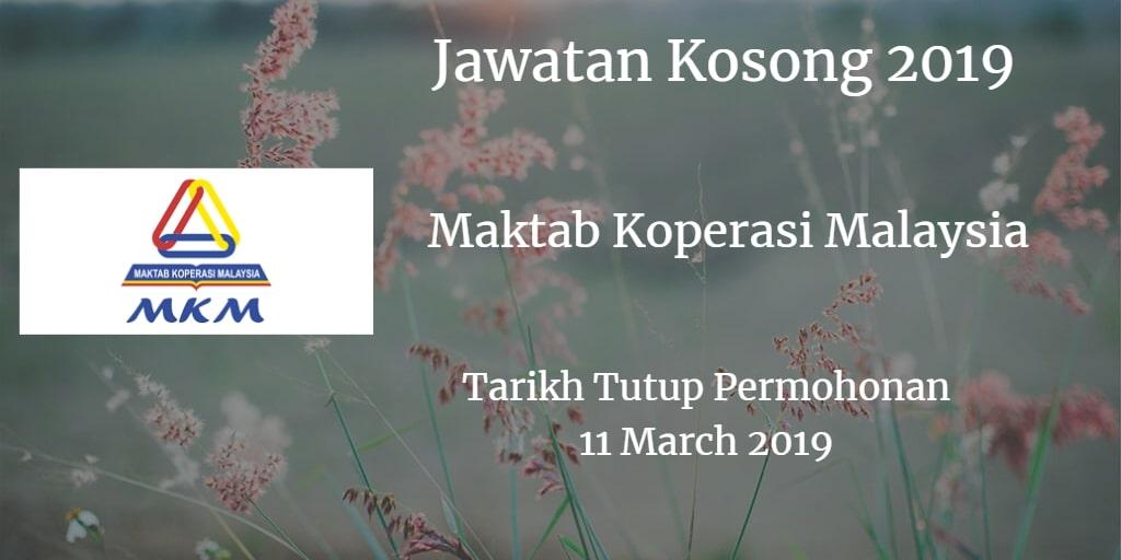 Jawatan Kosong MKM 11 March 2019