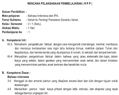 RPP Kelas 5 Tema 4 Sehat Itu Penting K13 Revisi 2018