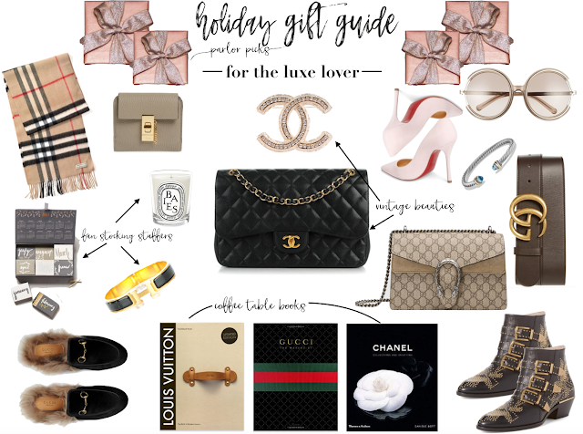 holiday gift guide for the luxe lover