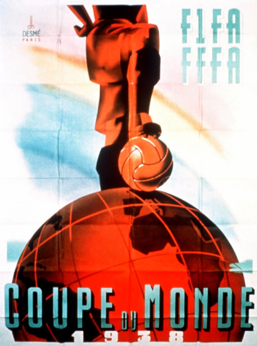 Vintage World Cup Posters France 1938