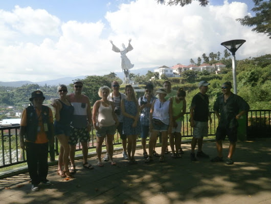 hiking mahawu volcano and the besth of minahasa highland.guided group from paland and USA