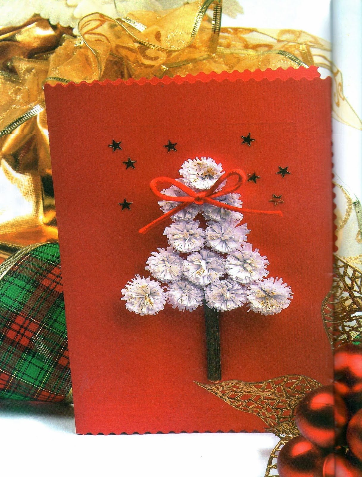 tarjeta navidea materiales tiras de papel arco iris de cm de ancho por cm de largo cartulinas para tarjetas aguja punta roma