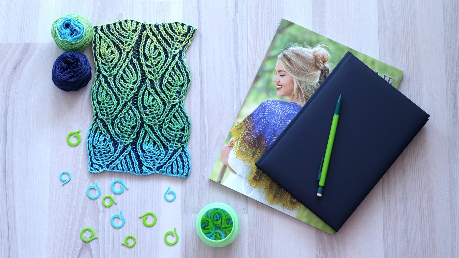Foliage Scarf - Brioche Knitting