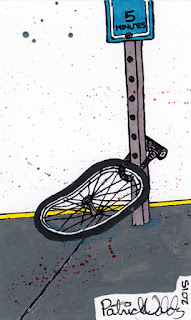 Locked Bike Wheel by Patrick Valdez