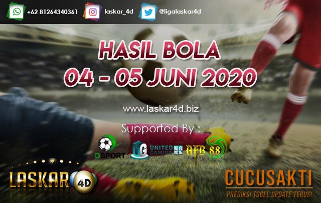 HASIL BOLA JITU TANGGAL 04 – 05 JUNI 2020