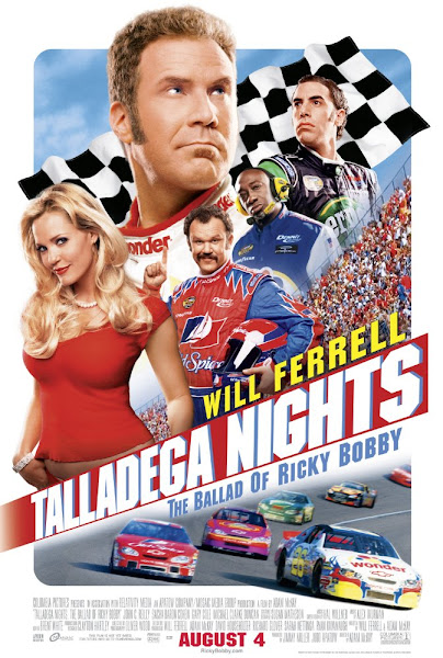Poster Of Talladega Nights 2006 UnRated 720p Hindi BRRip Dual Audio Full Movie