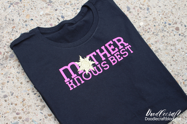 Disney's Tangled: Mother Knows Best DIY Iron-On Shirt