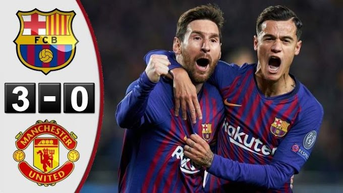 DfVideo : Barcelona 3 - 0 Manchester United ( 16 -APR - 2019 ) Champions League Highlights