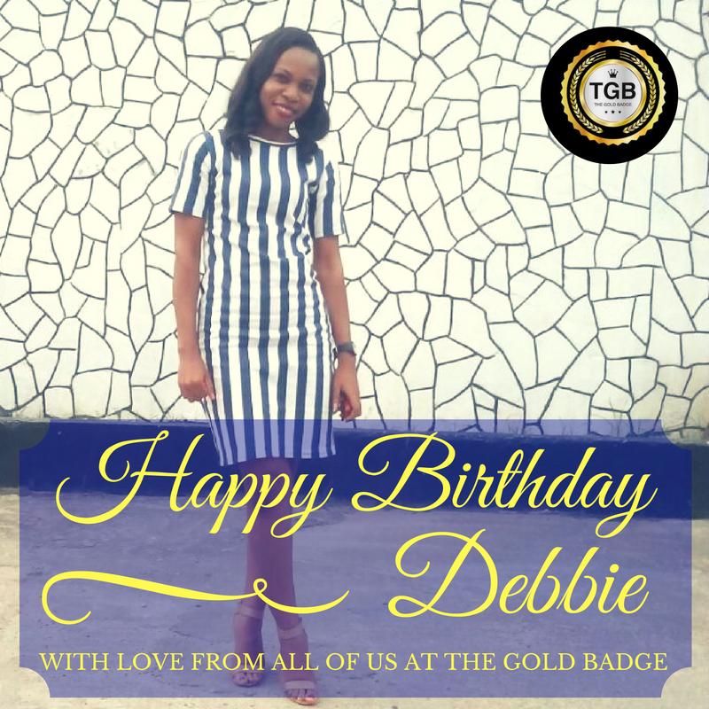 THE GOLD BADGE : Happy Birthday Debbie