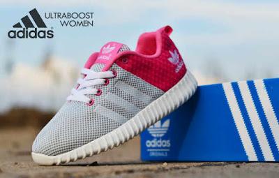 Sepatu Adidas Ultra Boost Women Grey Pink