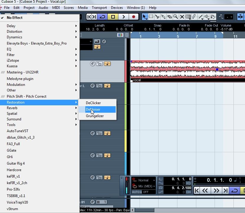 Cubase 5 Vocal Mixing Tutorial ~ Free Studio Tutorials