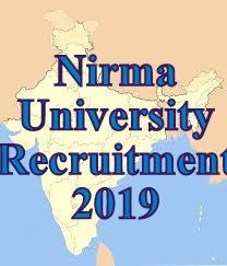Nirma University Recruitment 2019 | At Associate Professor Posts
