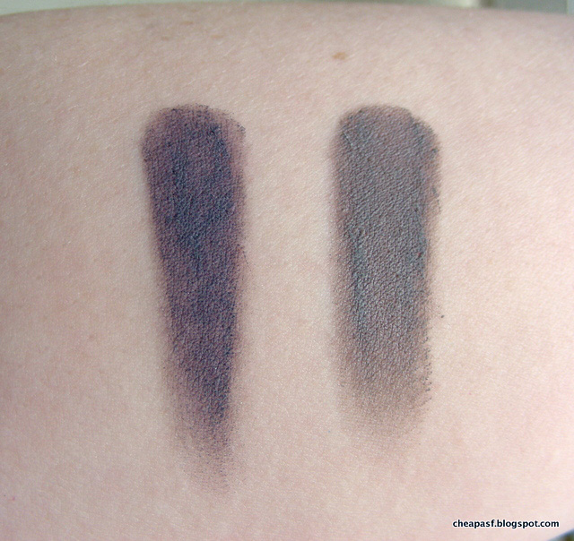 Swatches of Maybelline Color Tattoo in Vintage Plum and Tough as Taupe