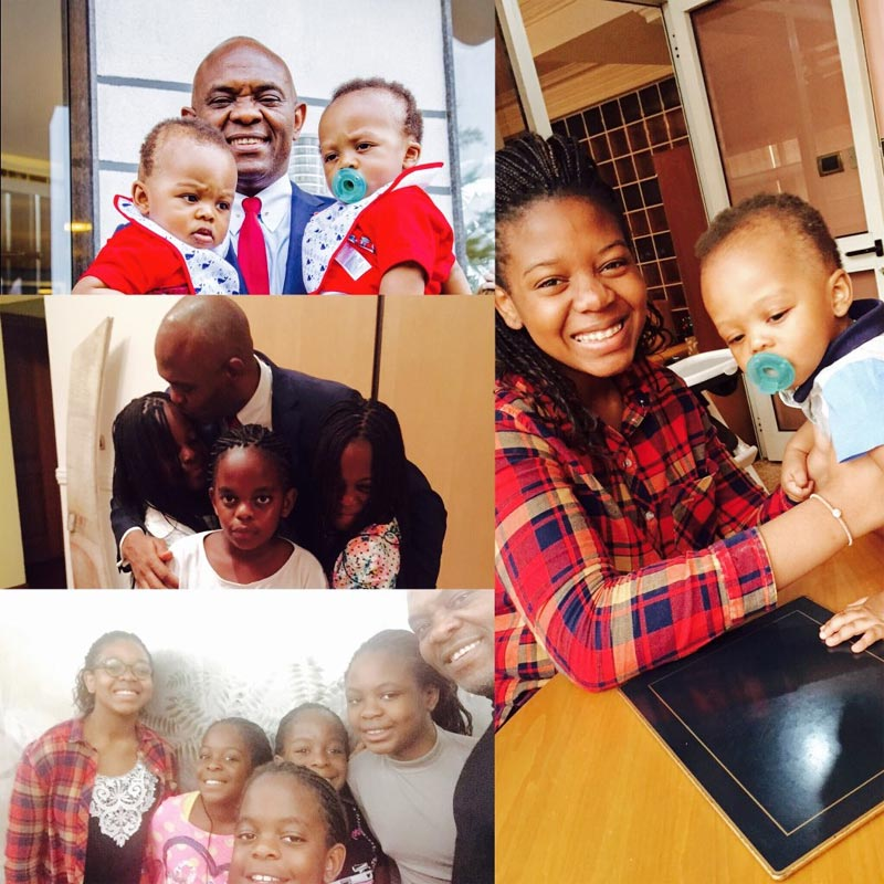 Fathers Day: Tony Elumelu shares photos of his children